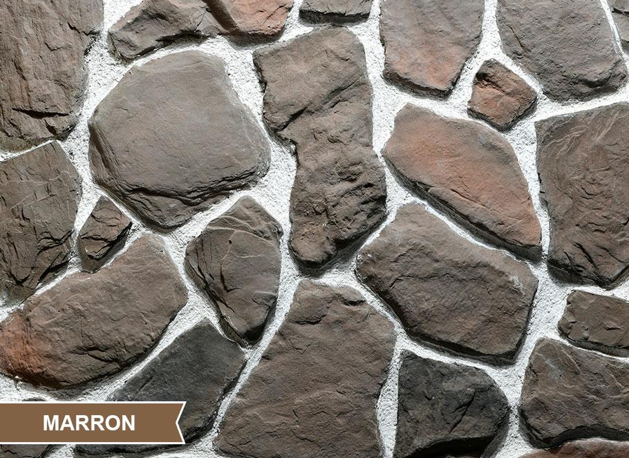 Saro Wi-Wa Marron Kültür Taşı Duvar Kaplama